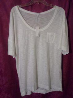 NWT JAMES PERSE Short Sleeve Pocket Tee T-Shirt Top Sz 3/L WHITE Modal   #JamesPerse #BasicTee