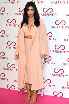 Kim attends the Hairfinity U.K. launch party Nov. 8, 2014, in London.