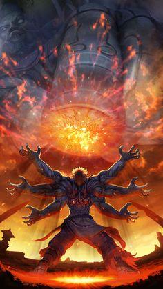 Asura's Wrath est un jeu vidéo de type beat them all développé par CyberConnect2 et édité par Capcom en 2012 sur PlayStation 3 et Xbox 360.  Dévoilé en 2010 au Tokyo Game Show, le jeu met en avant une divinité déchue qui est obsédée par la vengeance. La mythologie asiatique est mélangée avec la science-fiction.