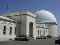Multiple telescopes and old architecture.