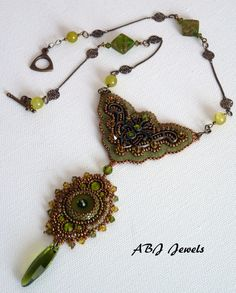 Hindu spirit embroidered necklace by AllByJo on Etsy, €85.00