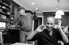 (5) Daughter's touching photographs chronicle her parents' joint battle with cancer: Howie breaks into a dance to try to get a smile out of his wife.