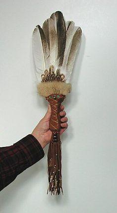 Authentic Native American Owl Spirit Medicine Ceremonial Dance Prayer Fan by Cynthia Whitehawk Apache