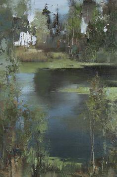 Alexander Zavarin(Russian, b.1954) Old pond oil