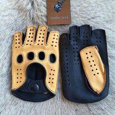 Fingerless gloves . Made from deer leather.  #gloves #leather #lederhandschuhe #handschuhe #sport