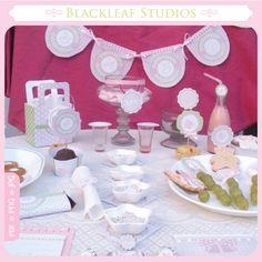 Pink Elephant Baby Shower Printables Set