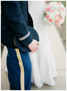 #wedding#detail#perfect#flowers#militarywedding#uniform http://coryandjackie.com/