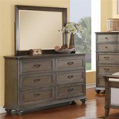 Riverside Furniture – Belmeade Six Drawer Dresser And Landscape Mirror