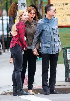 Dave Gahan Takes His Family to Brunch - New York on May 4, 2014