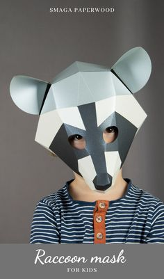Raccon Mask , printable woodland Mask design Informations About Animal mask template, Printable Raccoon mask by SmagaPaperwood Pin You can Diy Carnival, Carnival Masks, Carnival Dress, Carnival Prizes, Carnival Makeup, Unique Halloween Costumes, Halloween Masks, Costume Ideas, Raccoon Mask