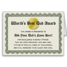 Shop World's Best Dad Award Certificate Card created by cutencomfy. Cute Mothers Day Gifts, Funny Fathers Day, Fathers Day Cards, Father's Day Card Template, Award Template, Father's Day Greeting Cards, Custom Greeting Cards, Funny Holiday Cards, Worlds Best Dad