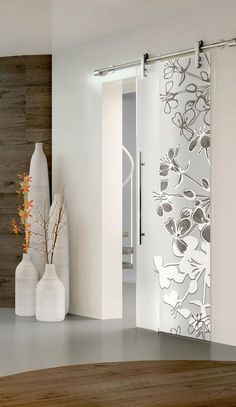 49 Modern Home Decor Trending This Winter - Home Decoration Experts Home Door Design, Sliding Door Design, Interior Design Boards, Interior Design Living Room, Furniture Design, Room Doors, House Doors, Closet Doors, Garage Doors