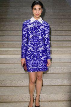 Caroline Issa in a dress by Valentino.