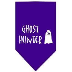 Ghost Hunter Screen Print Bandana Purple Small
