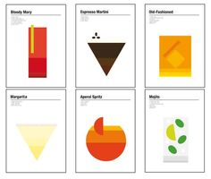 Nick Barclay breaks down classics cocktails in his minimalist poster designs http://ind.pn/1LLmDkc  via @gillian_orr