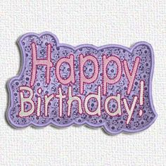 """This free embroidery design is """"Happy Birthday""""."""