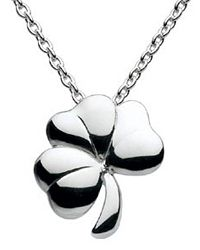 Kit Heath Sterling Silver Shamrock Necklace