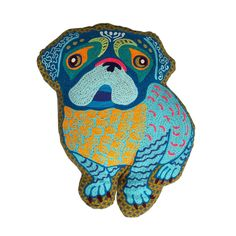 Cutest Embroidered Pug Pillow Life is better with a Pug. Perfect accent your living room, kids bedroom or nursery. Give as a gift for yourself or dog lovers, any occasion. Brings a smile to you every