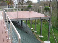 construction terrasse suspendue - Construire Une Terrasse En Bois Sur Pilotis