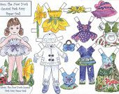 Stafilia the Grapevine Fairy Paper Doll por TheOliveFairy en Etsy