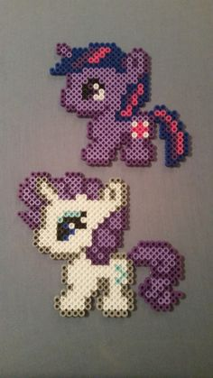 My Little Pony Perler Bead Figures by AshMoonDesigns on Etsy