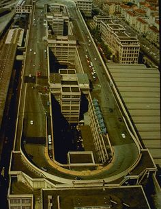 LINGOTTO: Rooftop test track built in Turin, Italy, to test FIAT cars.Built from 1916 and opened in 1923