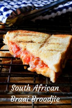 No South African braai is complete without the original South African toastie: braai broodjies. Crisp and crunchy on the outside – gooey and cheesy on the inside. South African Braai, Braai Recipes, Trinidad Recipes, Campfire Food, Campfire Recipes, Tomato Relish, Waffle Sandwich, Christmas Lunch, South African Recipes