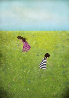 Field of Summer - Illustration by Maja Lindberg