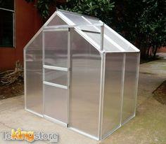 Serre jardin structure alu verte 10 33 m2 au meilleur prix lekingstore - Serre de jardin 12m2 ...