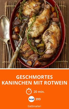 Geschmortes Kaninchen mit Rotwein - smarter - Kalorien: 399 Kcal - Zeit: 20 Min. | eatsmarter.de