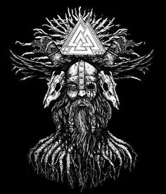 Discover Viking Odin Norse Valhalla Sweatshirt, a custom product made just for you by Teespring. - Beautiful and quality Viking - Odin - Norse -. Viking Rune Tattoo, Viking Tattoo Sleeve, Rune Viking, Norse Tattoo, Viking Tattoos, Sleeve Tattoos, Viking Warrior, Yggdrasil Tattoo, Medieval Tattoo