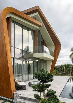 Комплекс вилл в Анталье: дома-ракушки из камня и дерева | Admagazine | AD Magazine