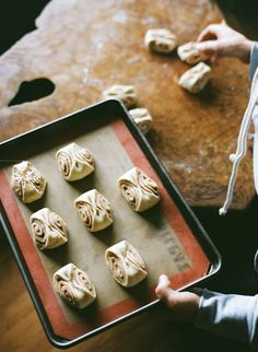 Pulla (Finnish Dessert Bread) | Kinfolk- interesting 'twist' in changing the look of an average cinnamon bun.