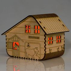solar wooden nightlight - hills farm by lumilight - *Hills farm lumilight* This hills farm lumilight is enchanting and would make the perfect gift for any farm animal fan! Each Lumilight comes flat packed and comes with a solar panel. Lumilights are a