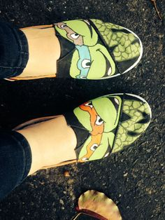 Hand Painted TMNT shoes.