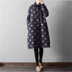 Women Casual loose winter long sleeve Cotton coat - Buykud
