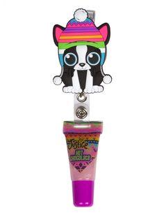 Holiday Critter Yoyo Lip Gloss | Girls Lip Gloss Beauty | Shop Justice | Boston terrier
