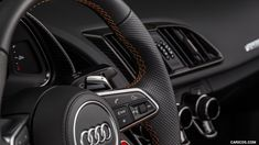 2017 Audi Plus Exclusive Edition - Interior, Steering Wheel HD Audi R8 V10 Plus, Audi Sport, Audi Quattro, Car Pictures, Sports, Hs Sports, Sport