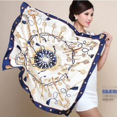 Cheap scarf beaded, Buy Quality ink pens for sale directly from China scarves stoles Suppliers: Lowest Price Free Shipping 2015 New Fashion Women Big Size 90x90cm Imitated Silk Square Scarf High Quality Brand Shawl H