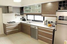 Fabulous Modern Kitchen Sets on Simplicity, Efficiency and Elegance - Home of Pondo - Home Design Modern Kitchen Cabinets, Kitchen Furniture, Kitchen Dining, Kitchen Decor, Furniture Stores, Kitchen Room Design, Kitchen Interior, Kitchen Shelf Inspiration, Cool Kitchens