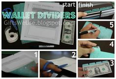 Tired of cash envelopes cramming your wallet?  Try these wallet dividers instead!  Slim, cute and easy to make with a printable template. {via Gifts We Use}