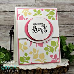 Friendship Cards, Card Patterns, Happy Saturday, Kids Cards, Homemade Cards, Flower Art, Design Projects, Stampin Up, Art Floral