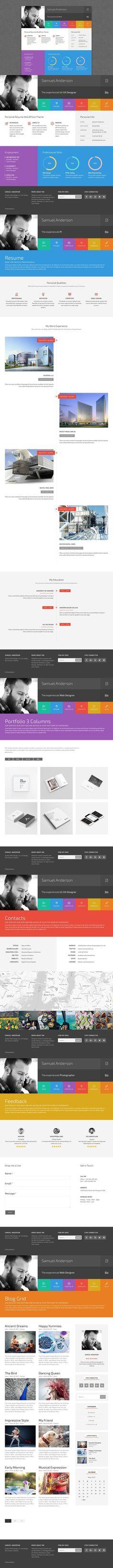 Mineem - Minimal Portfolio\/Blog Minimal and Wordpress - wordpress resume themes