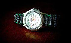 A Solomon Ladder paracord watchband/bracelet. Diy Jewelry, Jewelry Accessories, Jewelry Making, Paracord Weaves, Paracord Watch, Paracord Projects, Make Your Own Jewelry, Cord Bracelets, Solomon