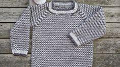 Strik en praktisk drengesweater i perlestrik