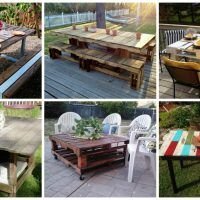 10 Super Easy Ideas To Make Fascinating DIY Pallet Table For The Garden