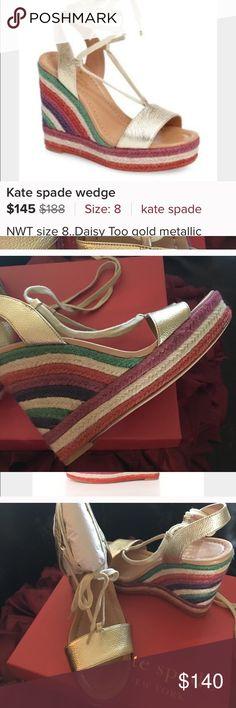 kate's spade cute sandels new in box wedge sandels kate spade Shoes Wedges