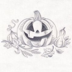 This free embroidery design is a pumpkin sketch.   Download