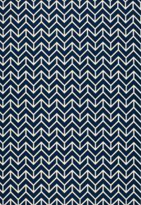 Chevron Print Navy by F Schumacher