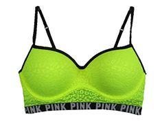 67d10d8b576993 Amazon.com  Victoria s Secret Pink Leopard Lace Push-Up Bralette Bra XS  (AA-B)  Clothing
